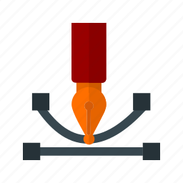 art, curve, drawing, graph, tool, web icon