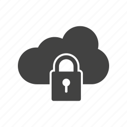 access, cloud, computer, information, lock, security, server icon