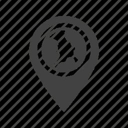 global, globe, gps, location, map, travel, web icon