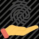 authentic data, biometric verification, data verification, safe data, verified data icon