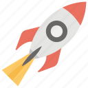 aircraft, browser, business launch, launch, rocket, startup icon