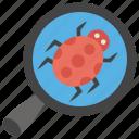 bug detection, bug tracking, virus checker, virus removal, virus scan icon