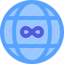infinity, internet, unlimited, website, world icon
