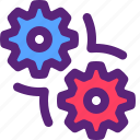 gear, maintenance, processing, settings, worker icon