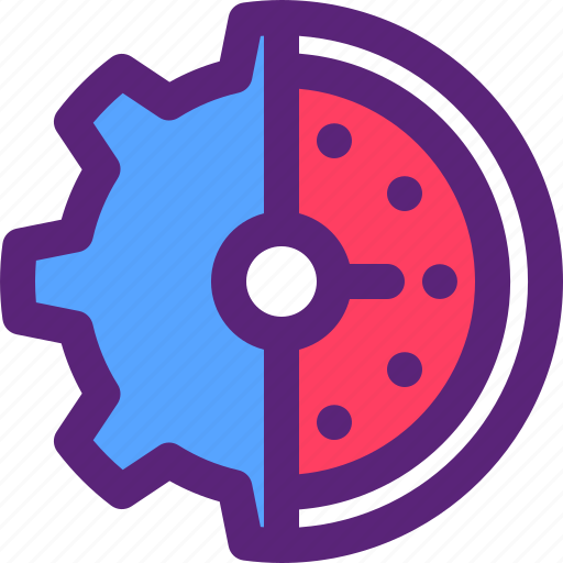 developer, gear, performance, settings, speed icon