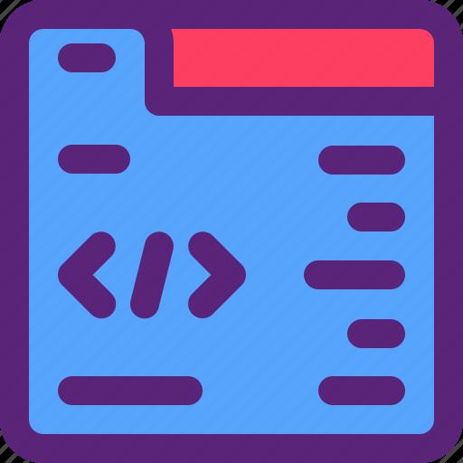 code, data, html, programmer, website icon