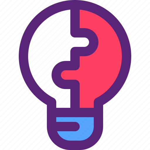 Solution, bulb, idea, innovation, puzzle icon - Download on Iconfinder