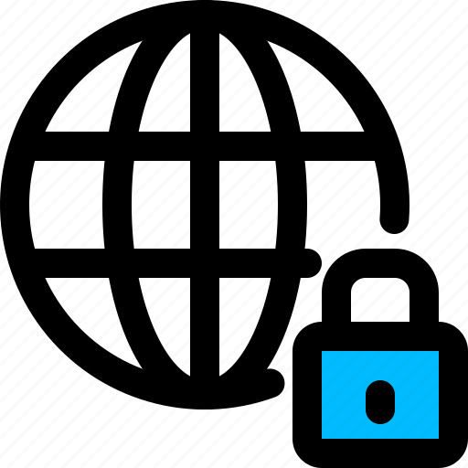 domain, lock, privacy, protection icon