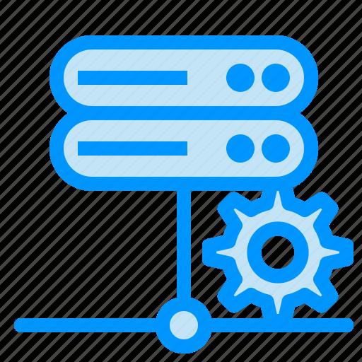database, network, server, setting icon