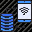 database, server, share, smartphone, storage