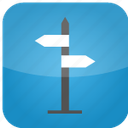 arrows, direction, flare, gude, hosting, iphone like, pointer, route icon