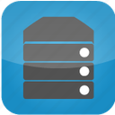 database, hosting, machine, server, system, web hosting icon