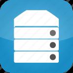 hosting, machine, server, web, web hosting icon