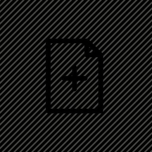 add, create, document, file, paper, plus, sheet icon