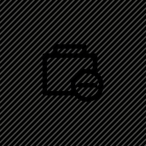 bag, case, collection, delete, kit, kits, minus icon