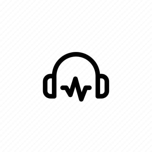 audio, headphone, headphones, music, sound, volume, wave icon