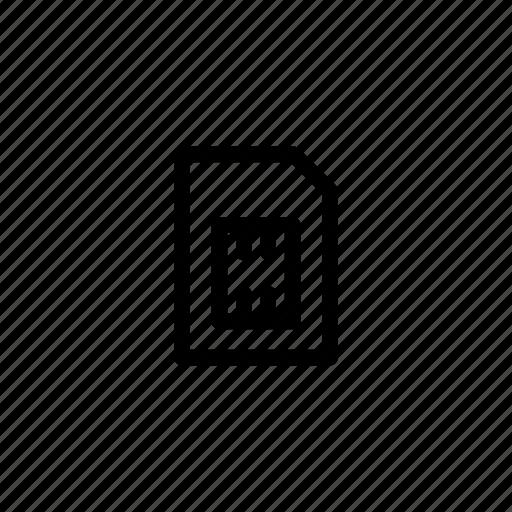 card, flash, memory, mobile, phone, sim icon
