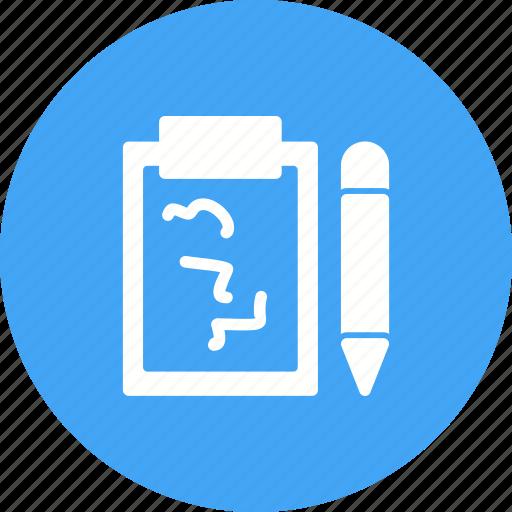 data, edit, information, notepad, store, update, write icon