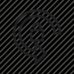 auto, interface, mobileauto, rotation icon