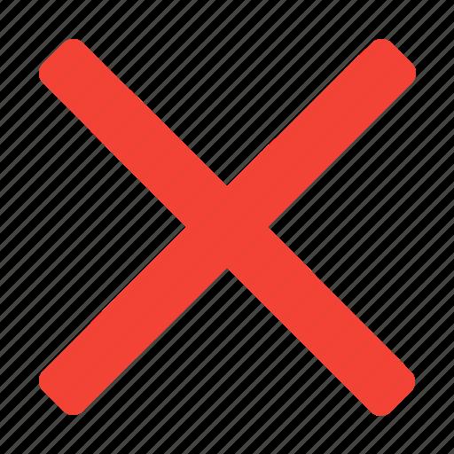 close, cross, delete, sign icon