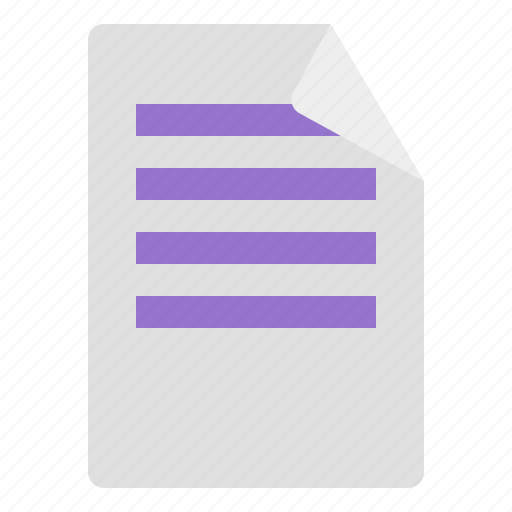 document, paper, sheet, text icon