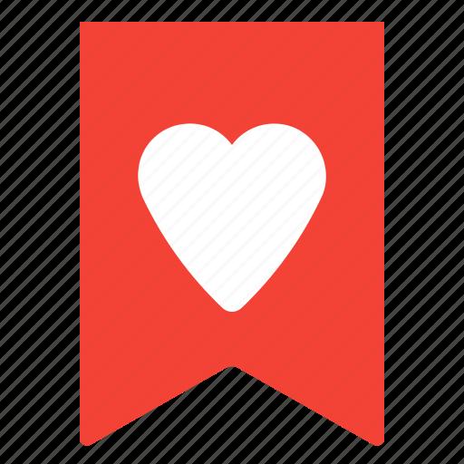 bookmark, favorites, flag, heart icon