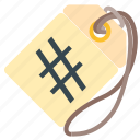 hashtag, label, seo, tag icon