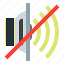 loudspeaker, mute, off, speaker icon