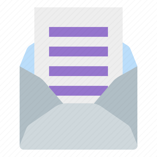 mail, message, open, read icon