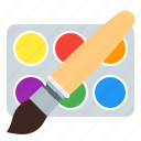 brush, design, paint, watercolor icon
