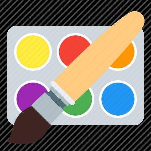 brush, design, paint, watercolor icon