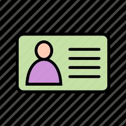 credit card, identity, identity card icon