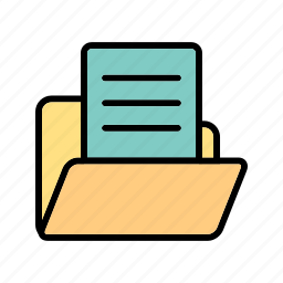 data, document, document in folder icon