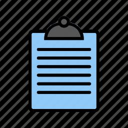 chart, clip board, report icon