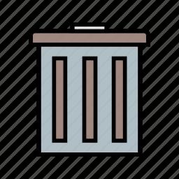 delete, dust bin, recyle bin, remove icon
