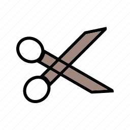 cutting, edit, scissor icon
