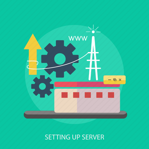 computer, internet, process, server, setting, signal, website icon