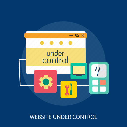 computer, control, maintenance, page, process, under, website icon