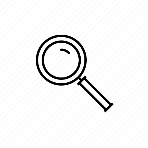 find, locate, magnifying glass, scan, search icon
