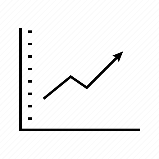 business, finance, graph, growth, timeline icon