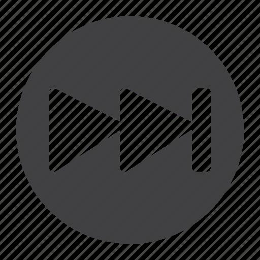 audio, fast, foward, mobile, music, video, web icon