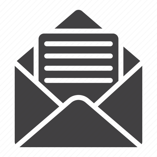 email, envelope, letter, mail, mobile, open, web icon