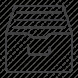 archive, box, data, database, mobile, storage, web icon