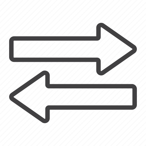 direction, left, mobile, navigation, right, sign, web icon