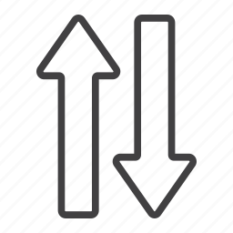 direction, down, mobile, navigation, sign, up, web icon