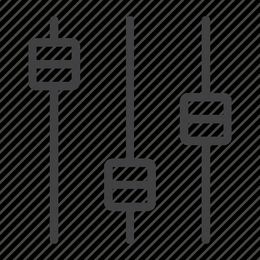 audio, equalizer, mobile, music, sound, volume, web icon