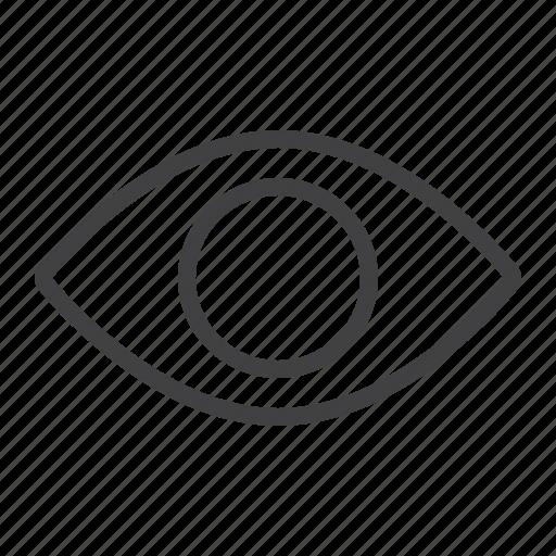 eye, lens, look, mobile, mode, read, web icon