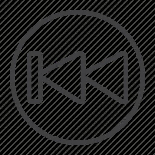 audio, backward, fast, mobile, music, video, web icon