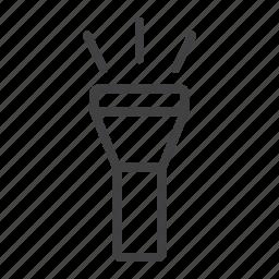 flashlight, led, light, mobile, night, torch, web icon