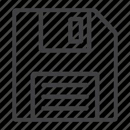data, disk, diskette, floppy, mobile, save, web icon